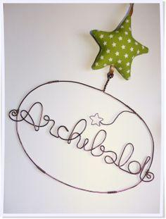 Cadeau naissance enfant bébé Déco chambre Etoile en tissu + prénom www.dansmestiroirs.com