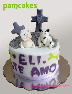 Pastel de Frankenweenie Pasteles Halloween, Halloween 1, Cake, Desserts, Food, Fondant Cakes, Deserts, Festivus, Favors