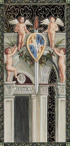 L'as d'épées - Golden Tarot of Renaissance par Giordano Berti & Jo Dworkin