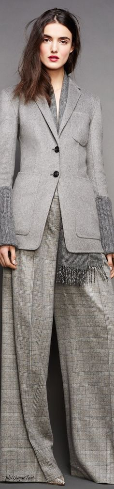 J. Crew Grey Fashion, Suit Fashion, Fasion, Edgy Outfits, Fall Outfits, Pantsuits For Women, 2016 Fashion Trends, Power Dressing, Office Looks