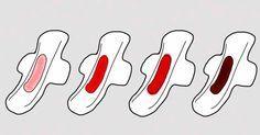 Incrível! Cor do fluído menstrual pode indicar doenças! - # #menstruação #sangue