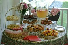 Delicious foods for tea party