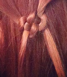Celtic knot/ pretzel braid