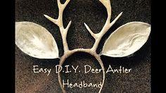 Forest Deer Fawn Antler DIY Floral Halloween Headpiece Costume - YouTube