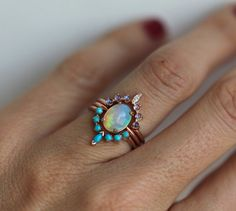 THIS IS ORIGINAL DESIGN from Minimalvs If you see another store selling strikingly similar designs to mine, chances are that you will be supporting an opportunist - rather than an artist - by purchasing from them. Beautiful and mesmerizing Ocean Ring Set. This price is for all three rings: