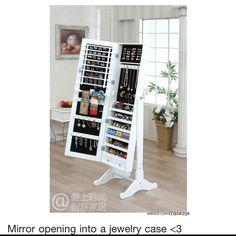 Mirror jewelry case