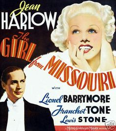 The girl from Missouri Jean Harlow movie poster print
