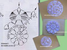 Bombki - Her Crochet Crochet Christmas Decorations, Crochet Christmas Ornaments, Crochet Decoration, Crochet Snowflakes, Beaded Ornaments, Christmas Crafts, Crochet Ball, Thread Crochet, Crochet Doilies