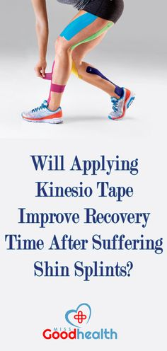 http://missgoodhealth.com/using-kinesio-tape-to-treat-your-shin-splints/ Will Applying Kinesio tape improve recovery time after suffering shin splints?