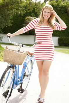 """striped dress so cute for summer  #thick   #curvy  #sexy """"if you follow my Curvy Girl's Spring/Summer Closet, make sure to follow my Curvy Girl's Fall/Winter Closet.""""   http://pinterest.com/blessedmommyd/curvy-girls-fallwinter-closet/"""