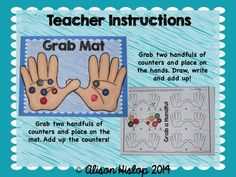 Grab a Handful! Addition Practice!