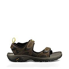 dabcde00ce58 Teva Men s Katavi Outdoor M US Open-toe sport sandal featuring three  adjustable hook-and-loop straps and rear pull-on loop Nylon shank for  stability ...