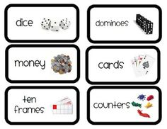 Lots of FREE math labels