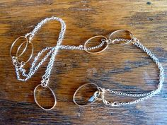 Smallish oval shapes on silver chain 33004 by venicemama on Etsy, $125.00