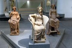 """mini-girlz: """" Three Terracotta Statues of Seated Goddesses from a sanctuary at Ariccia. century BCE National Museum of Rome, Baths of Diocletian """" Ancient Rome, Ancient History, Art History, World History Classroom, Roman Names, Ancient Goddesses, Beautiful Ruins, Art Antique, Terracota"""