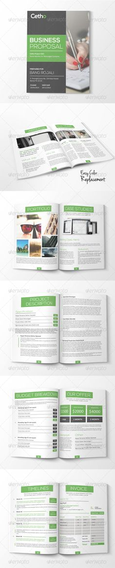Business Proposal Template w\/ Resume \ Invoice 60+ Pages - business proposal template microsoft word