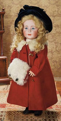 Rare German Bisque Toddler, 1488, by Simon and Halbig 3000/4000