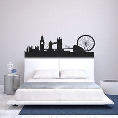 London Britain United Kingdom UK City Skyline Silhouette Wall Art Decal Sticker