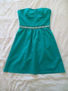 Robe bustier Naf Naf vert émeraude T.38 collection 2016 35,00 €  dress femme women