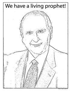 lds primary coloring pages prophet i was looking on mormonshare com for