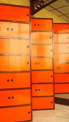 LOT DE 4 Armoires Kewlox Look Vintage Orange ET Brune   eBay