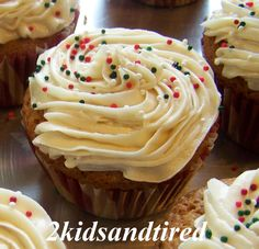 2 Kids and Tired Cooks: Yummy Vanilla Cupcakes