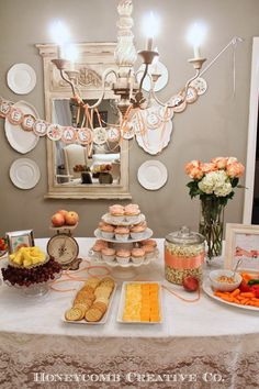 Honeycomb Creative Co. (peach themed baby shower) too pretty not to pin - I do love the color Peach (if it's a girl of course)