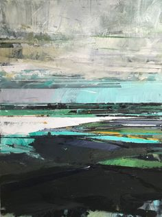 "Andrew Wykes ""Lacken Strand 10""  Acrylic on canvas, 2015, 40"" x 30"""