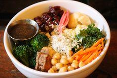 Earth Bowl Salad #earthbowl #salad #tofu #vegan #organic #veggie #green #homemade #eastvillage #vegan #nyc #eco