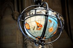 A beautiful shot of a globe hanging in the Suzzallo reading room. #youW