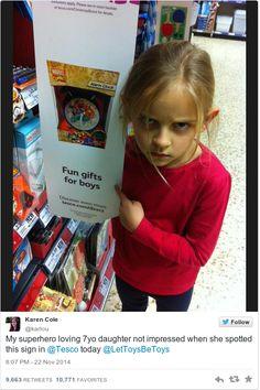 des jouets que pour les garçons !? Attention les petites filles veillent !