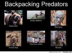 #backpacking predators!