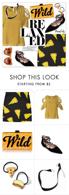 """""""Dresslily"""" by teoecar ❤ liked on Polyvore featuring Edie Parker, Topshop and Gasoline Glamour"""