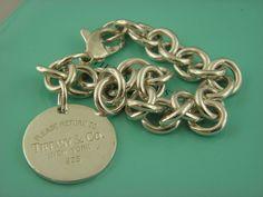 "Tiffany & Co Return to Tiffany Round Charm Link Bracelet 7.75"" inch…"