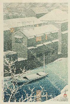Kawase Hasui (1883-1957), Ochanomizu, Japan, 1926. | Lot 458 | Auction 2992B | Estimate: $2,000-3,000