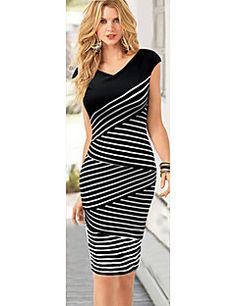 MG Women's Vintage/Sexy/Beach/Party/Work Dresses (Cotton Ble... – USD $ 11.99