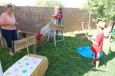 "Excelente idea..: Country Fair / Birthday ""Quinn's Country Fair"" | Catch My Party hors, fair birthday party, rope, birthday parties, fair game ideas, birthday idea, parti idea"