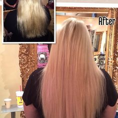 """""""Before and after @GreatLengths Hair Extensions.  Hair by Extension Specialist Tawsha @JigsawForHair. @GLCanada @GLExtensions #GreatLengths #HairExtensions"""" Photo taken by @jigsawforhair on Instagram, pinned via the InstaPin iOS App! http://www.instapinapp.com (01/25/2014)"""