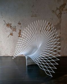 Peacock Chair. Peacock / UUfie, 2013 Corian / 275 x 80 x 182 cm Courtesy of Marco Tabasso http://www.mymodernmet.com/profiles/blogs/uufie-peacock-chair