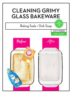 Baking soda 388365167859394493 - Best Way to Clean Dirty Glass Bakeware per Good Housekeeping – The Winner: Baking Soda + Dish Soap Source by maisiedownes Deep Cleaning Tips, House Cleaning Tips, Diy Cleaning Products, Spring Cleaning, Cleaning Hacks, Cleaning Solutions, Kitchen Cleaning, Cleaning Checklist, Kitchen Tips