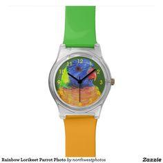 Rainbow Lorikeet Parrot Photo Wrist Watches