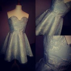My first dress complete. Made out of curtains. By ciara Mcparland. #love #fashion #embroidery #floral #vintage #stylish #blue #designer #art #dress #skaterdress #pastel #candy #fashionstudent #degree #beautiful #beauty #cute #design #style