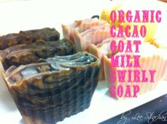 Goat Milk Soap with Organic Cacao Swirl