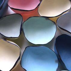 Coloured Porcelain Tea Light Shell