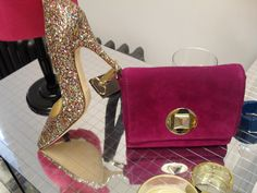 Image detail for -kate spade was all about the girly glam with glitter heels and satin ...