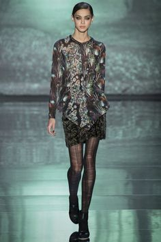 Nicole Miller - Mixed scenery, gemstones and florals in patchwork print
