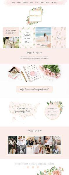 Event planner Wix Website website design wedding planner