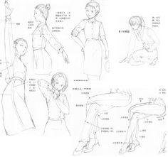 Clothes, folds and movements 9 by FVSJ.deviantart.com on @deviantART