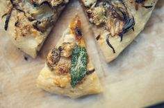 Pasta Pizza (Roasted Butternut Squash, Sunchokes, and Fennel with Walnut Pesto, finished with Brown Butter and Crispy Sage)