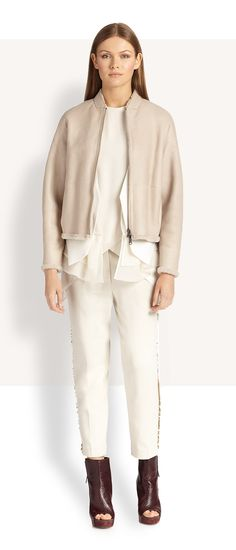 Opt for easy elegance in Brunello Cucinelli's drapey fall 2014 staples. #Fashion
